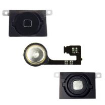 iPhone 4S home button met flex kabel - Zwart