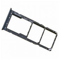 Samsung A205F|A305F|A505F Galaxy A20|A30|A50 2018 simkaart houder + geheugenkaart houder Zwart