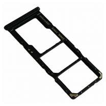 Samsung SM-A705F Galaxy A70 simkaart houder + geheugenkaart houder GH98-44196A Zwart