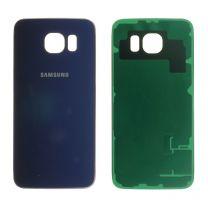Samsung G920F Galaxy S6 achterkant glas behuizing Zwart