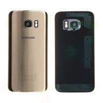 Samsung G930F Galaxy S7 achterkant glas behuizing GH82-11384C goud